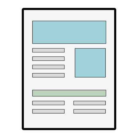 白い背景のベクトル図をドキュメント ページ アイコン