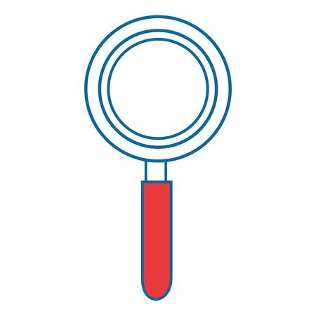白背景ベクトル イラスト上の虫眼鏡アイコン  イラスト・ベクター素材