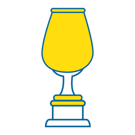 trophy cup icon over white background vector illustration