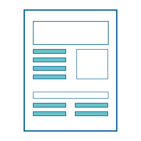 Document pagina pictogram over witte achtergrond vector illustratie