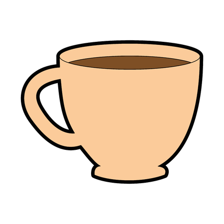 coffee mug icon over white background vector illustration Illustration