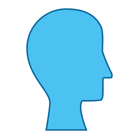 hoofd pictogram over witte achtergrond vectorillustratie
