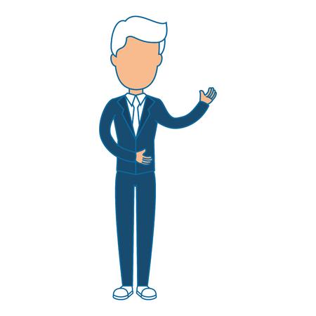 zakenman pictogram over witte achtergrond kleurrijk ontwerp vectorillustratie