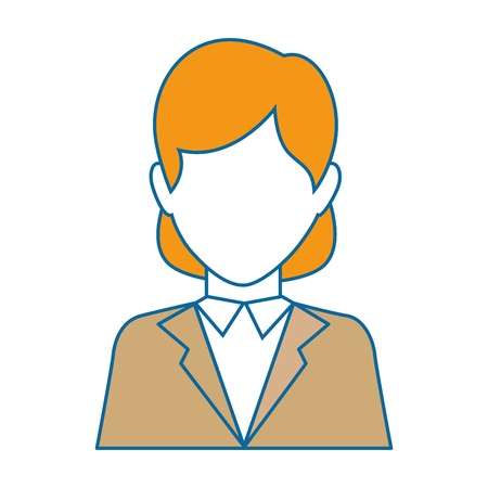businesswoman icon over white background vector illustration
