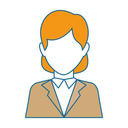Icona della donna di affari sopra l'illustrazione bianca di vettore del fondo Archivio Fotografico - 82072911