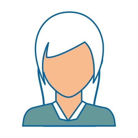 Zakenvrouw pictogram op witte achtergrond vector illustratie