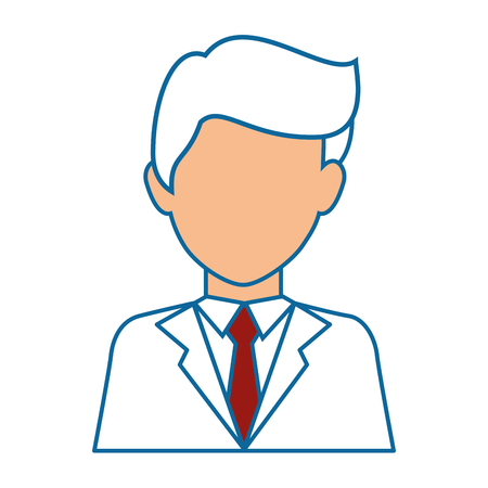 businessman icon over white background colorful design vector illustration