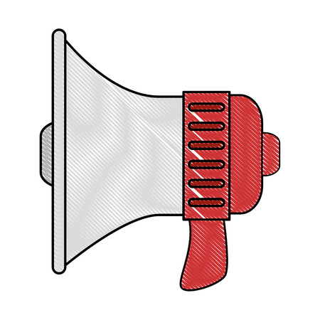 loud speaker: megaphone icon over white background vector illustration