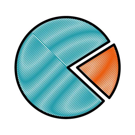 pie chart icon over white background vector illustration Illustration
