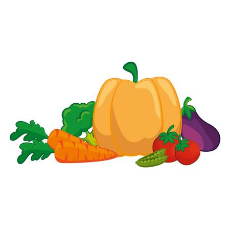 healthy vegetables icon over white background colorful design vector illustration Ilustração