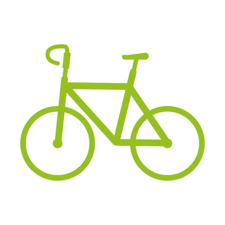 fiets icoon over witte achtergrond vector illustratie