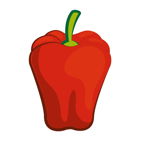 pepper icon over white background colorful design vector illustration