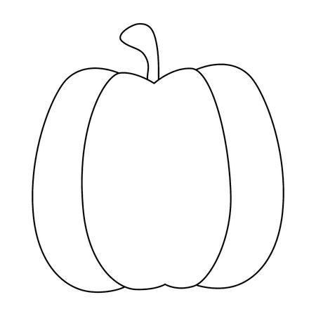 pumpkin vegetable icon over white background vector illustration 向量圖像