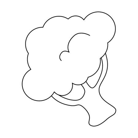 broccoli vegetable icon over white background vector illustration