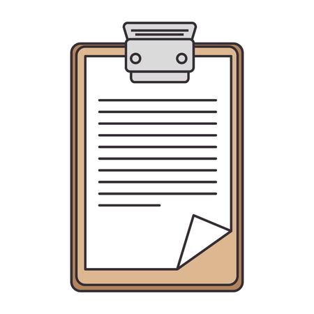 Rapport tabel icoon over witte achtergrond vector illustratie