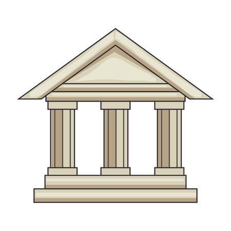 Bank gebouw pictogram over witte achtergrond vectorillustratie Stockfoto - 82079822