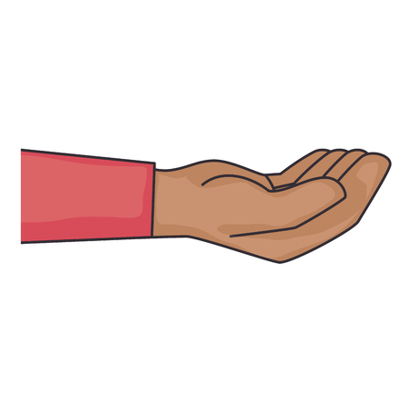 hand touch: hand icon over white background vector illustration