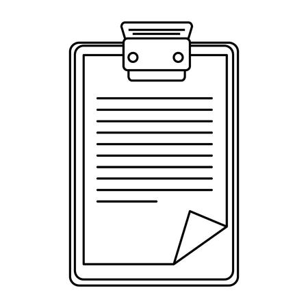 rapport tabelpictogram over witte achtergrond vectorillustratie