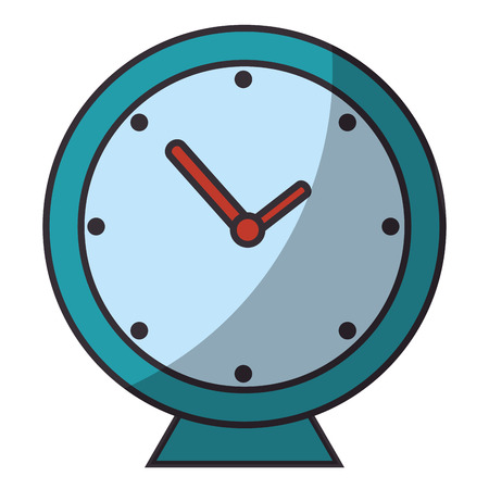 clock icon over white background colorful design vector illustration