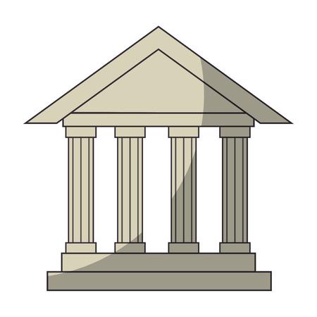 Bank gebouw pictogram over witte achtergrond vectorillustratie Stockfoto - 82080335