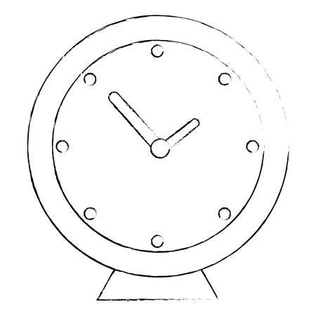 clock icon over white background vector illustration Stok Fotoğraf - 82080386