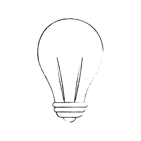light bulb icon over white background vector illustration Reklamní fotografie