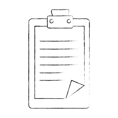 Rapport tabelpictogram over witte achtergrond vectorillustratie Stockfoto - 82080421