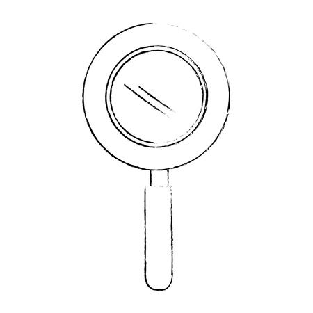 magnifying glass icon over white background vector illustration Stock Illustration - 82081834