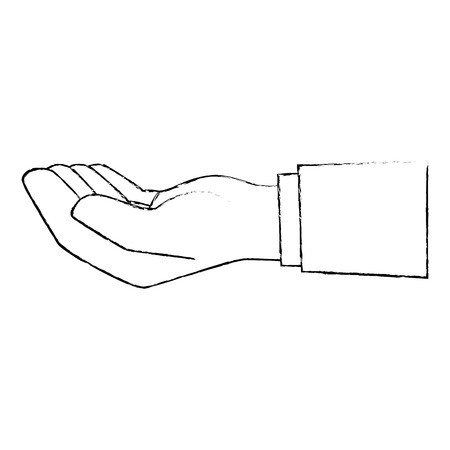hand icon over white background vector illustration