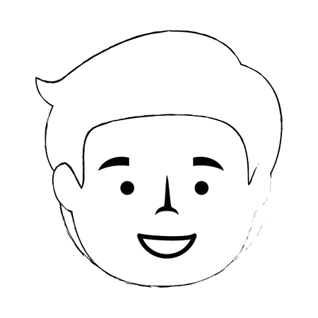 cartoon man icon over white background vector illustration Illustration