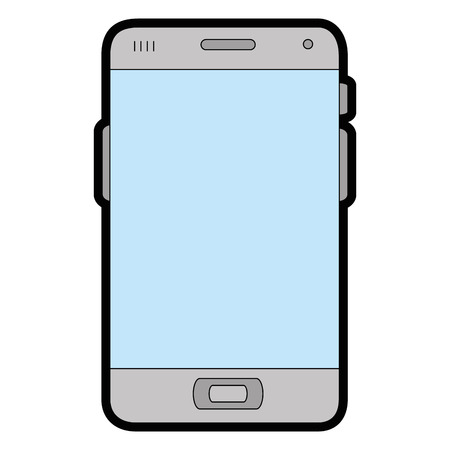responsive: smartphone device icon over white background vector illustration Illustration