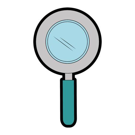 白背景ベクトル イラスト上の虫眼鏡アイコン 写真素材