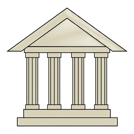 bank building icon over white background vector illustration Reklamní fotografie - 82082393