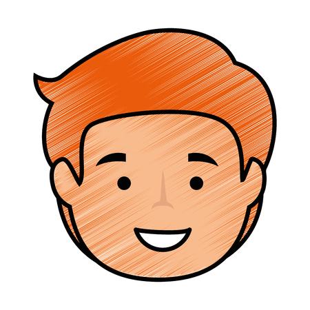 cartoon man icon over white background vector illustration Banco de Imagens