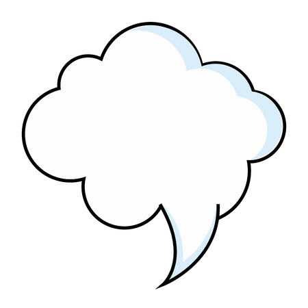 speech cloud icon over white background vector illustration