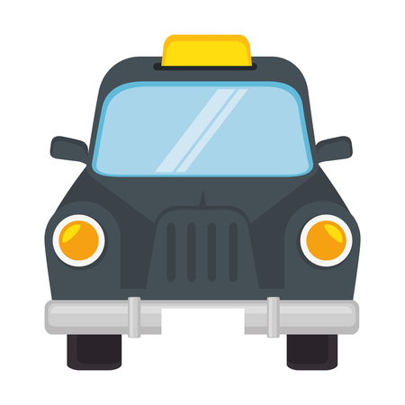 taxi car icon over white background vector illustration Иллюстрация
