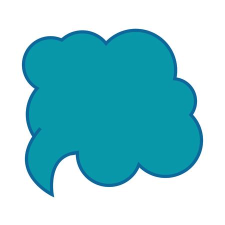 Speech cloud icon over witte achtergrond vector illustratie Stockfoto - 82083061