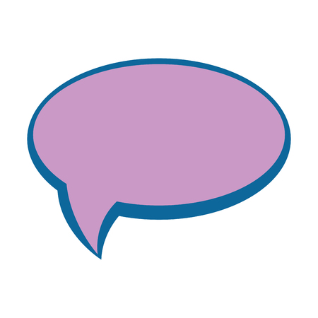 Speech bubble icon over witte achtergrond vector illustratie Stockfoto