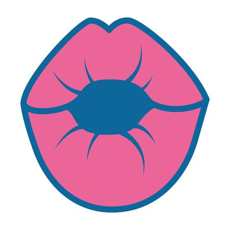 sensual lips icon over white background vector illustration
