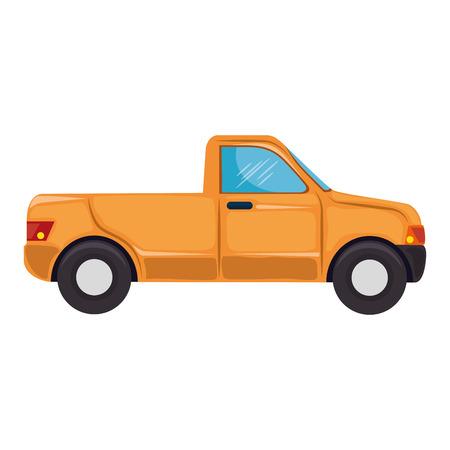 pickup icon over white background colorful design vector illustration