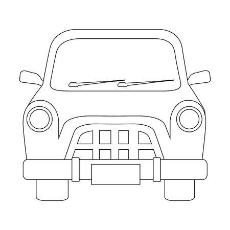 car icon over white background vector illustration Ilustracja