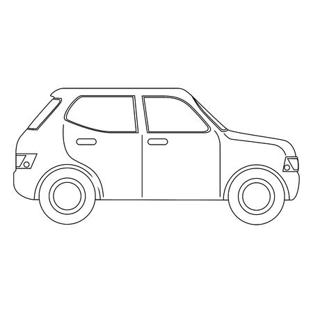 car icon over white background vector illustration Zdjęcie Seryjne - 82083090
