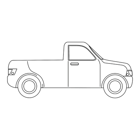 pickup icon over white background vector illustration Ilustracja