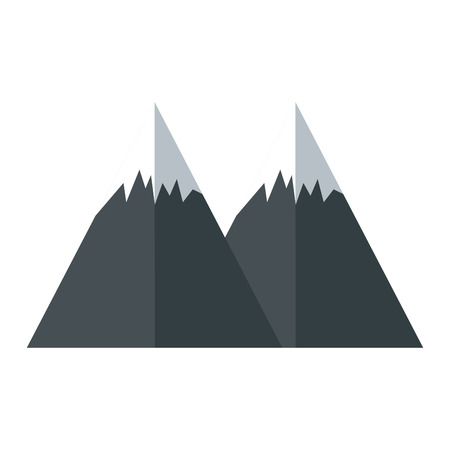 mountains icon over white background vector illustration Ilustracja