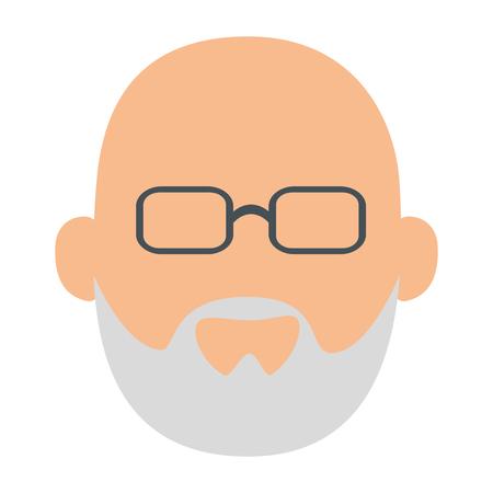 Avatar abuelo icono sobre fondo blanco ilustración vectorial Foto de archivo - 82085920