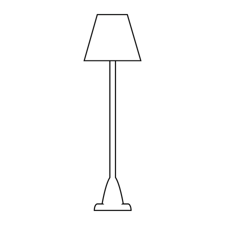lamp icon over white background vector illustration