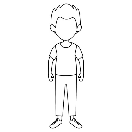 avatar man wearing casual clothes icon over white background vector illustration