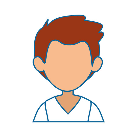 avatar man icon over white background colorful design vector illustration Stock Vector - 82086185