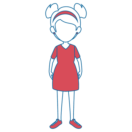 woman wearing a dress icon over white background vector illustration