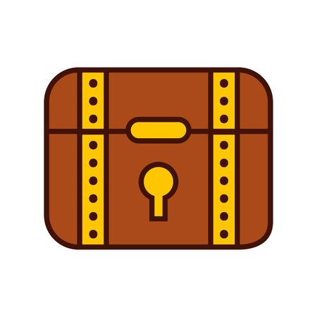 treasure chest game icon vector illustration design Illustration